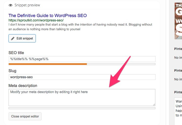 Yoast SEO makes this extremely easy.