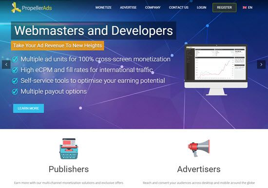 Propeller Ads Ad Network - Best Advertising Networks for Monetizing your Blog in 2019